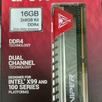 Patriot viper elite 16gb (2x8gb) pc 19200 2400mhz Ddr4 Dual channel