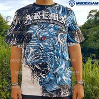 Baju Kaos Suporter Arema Aremania baru murah bahan katun mboiss