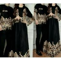couple alicia hitam baju pasangan sarimbit batik pesta undangan kelu