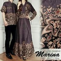 TA-00053 couple Arin abu baju pasangan simpel etnik cantik undangan