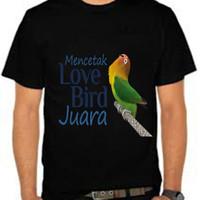 Kaos Baju Tshirt Burung love bird