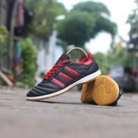 Sepatu Kulit Futsal Adidas Hitam Merah 38-45