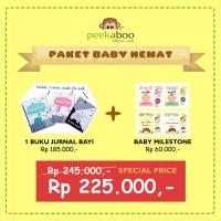 PAKET (Buku Jurnal Bayi/Baby Journal+Kartu Selfie Bayi/Baby Milestone)