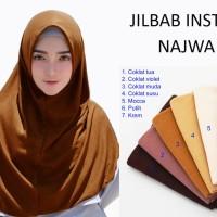 Hijab Instan Najwa - Jilbab Kaos Katun TC Premium