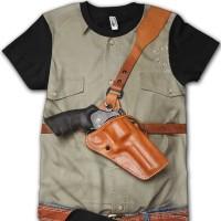 kaos 3d shirt with gun lucu lucuan unik keren OJ 101