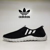 sepatu casual adidas climacool slip on black white / slop pria santai