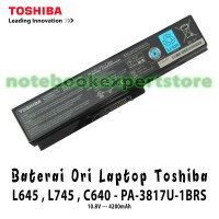 Baterai/Batre/Batery Laptop Toshiba L645 , L745 , C640 - PA-3817U- Ori