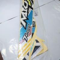 Stiker Body & Lis Bodi & Striping Mio J 2013 Teen Putih Biru Muda