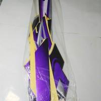 Stiker Body & Lis Bodi & Striping Scorpio Z 2008 Silver Biru