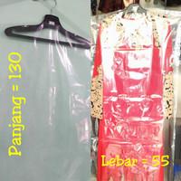 Plastik Pelindung baju Gamis Dress long ukuran 55x130 1 Lusin