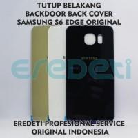 TUTUP BELAKANG BACKDOOR BACK COVER SAMSUNG S6 EDGE ORIGINAL KD-002565 - BLACK