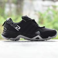 Sepatu Sport Outdoor Pria Adidas AX2 Goretex Full Black Hitam Putih