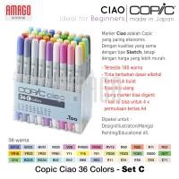 COPIC CIAO - 36 COLOR SET C - CCM/36C