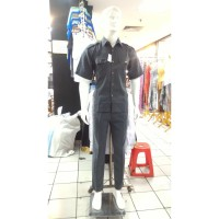 Baju / Kemeja Safari Abu Supir / Security High Twist 1 Stel