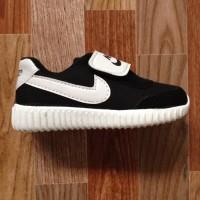 [FLEEX] Sepatu sport Nike yeezy anak-anak black & white DMC13 edition