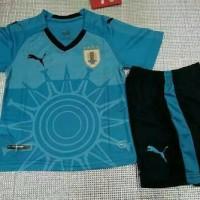 Jersey baju kaos uruguay home kids anak piala dunia 2018 grade ori