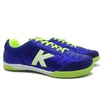 Sepatu Futsal Kelme Land Precision IN Royal Blue Lime