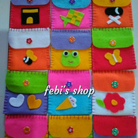 Amplop lebaran kain Flanel lucu / Angpao Idul Fitri / Amplop cute