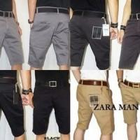 Celana Pendek Hitam Abu Chino Zara Man / celana chinos   Cargo Slimfit