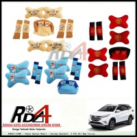 Paket Bantal Mobil - Sarung Seatbelt  9 PCS All New Terios