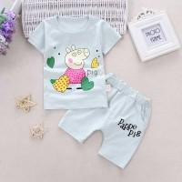 Setelan Kaos anak Peppa pig   Baju Anak Import murah