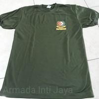 Kaos Oblong Paspampres Hijau Logo Kecil l Baju Paspampres