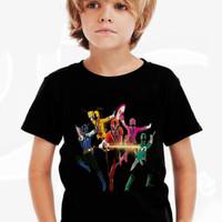 Kaos Baju Tshirt Anak Power Rangers