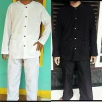baju Koko pangsi XXL hitam putih