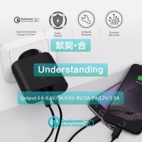 Aukey Charger USB 2 Port Quick Charge 3.0 - PA-T13 - Black