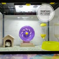 Terarium kandang Hamster Aquarium fullset Medium