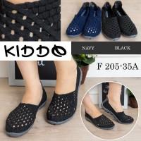 kiddo f205-35a sepatu anyaman rajut wanita ORI