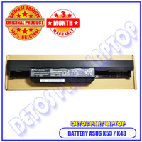 Battery Baterai Laptop Original Asus A43JV A43JU A43S A53S A53JV A53JU