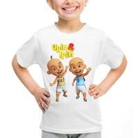 Kaos Baju Tshirt Anak Kartun Upin Ipin Putih