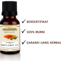 Bersertifikat Happy Green ORGANIC Safflower Oil (10 ml) - Murni COA
