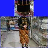 baju adat jawa bludru pengantin anak laki pawai karnaval