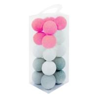 Cotton Ball Light - Lampion Benang - BOLA SAJA - Pink Grey