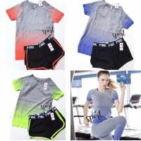 Kaos Sport Wanita Jogging Gym Senam Baju Olah Raga 3929