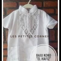 Baju Koko Anak Balita Lengan Pendek Bordir Putih (1- 7 Tahun) Harga