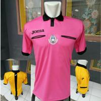 Baju wasit Joma | costum referee sepakbola / futsal warna Pink