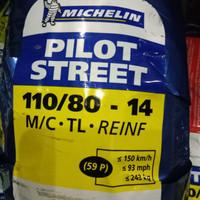BAN MICHELIN PILOT STREET 110/80-14 RING 14 UNTUK MOTOR MATIC