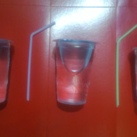 Sedotan Plastik Aqua Flexibel/Tekuk ORI dan STERIL uk.16x0,35cm 1pak48