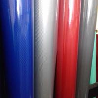 sticker/stiker carbon/karbon/stiker motor/mobil/5D warna merah/biru