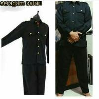 Baju SAFARI SECURITY/ Stelan Safari / Baju Satpam / Baju Supir
