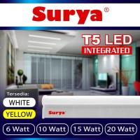 Lampu Set neon tube 20 watt cahaya PUTIH TL T5 LED 107.5cm Merk SURYA
