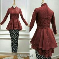 GB Setelan Baju Kebaya Brukat Batik Modern Terbaru Murah Aliche