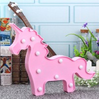 Marquee Lampu LED unicorn body hiasan ulang tahun dekorasi lampu tidur