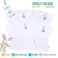 SINGLET OBLONG BAYI FLUFFY (Isi 4Pcs) SGO PUTIH S/M/L