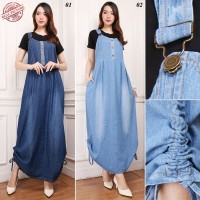 SB Collection Dress Maxi Sella Jeans Overall Jumpsuit Jumbo Wanita