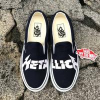 Sepatu Vans X Metallica Slip On Classic Navy Dress Blue White ICC BNIB