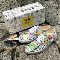 Sepatu Vans Authentic X PEANUTS Comic Snoopy Black True White BNIB